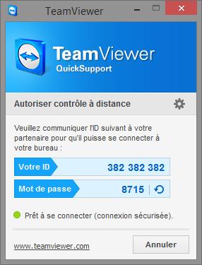 Interface de TeamViewer