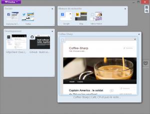 Ecran des groupes d'onglets de Firefox