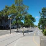 La rue qui longe le port de Québec