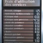 Frais d'utilisation des services chez Desjardins