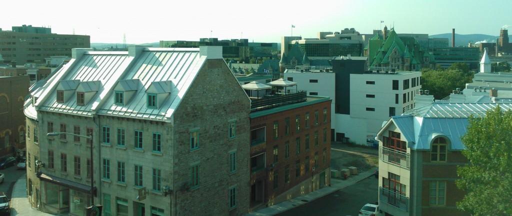 Basse-Ville de Québec vu depuis les remparts