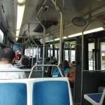 Vue intérieure d'un bus de la RTC